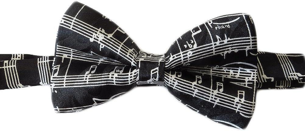 Steve Harris Mens Pre-Tied Adjustable Music Bowtie - Black - One Size Bow Tie