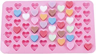 Pastry Molds,G-real Mini Heart 55 Cavity Silicone Flower Mold for Making Homemade Chocolate, Candy, Gummy, Jelly, and More
