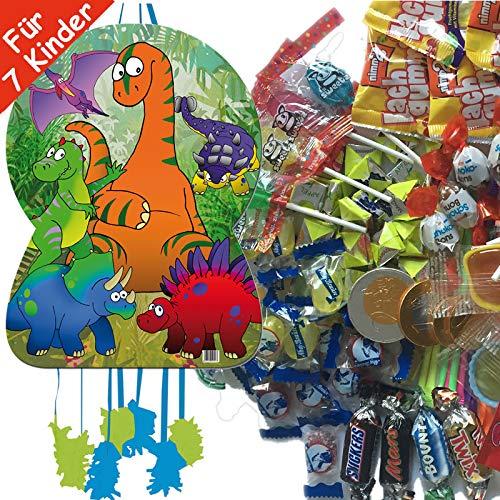 Neu: Juego de piñata con diseño de Dinosaurio con piñata Gigante y 100 Piezas de Relleno de golosinas n.º 1 de Carpeta para hasta 7 niños