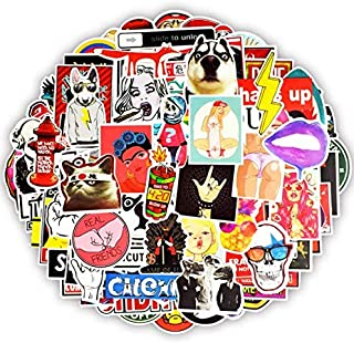 XCVBN Funny Sticker Anime JDM Creative Decal Stickers For Adults DIY Laptop Luggage Motorcycle Helmet Car Guitar Stickers 100 Pcs