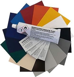 Abdeckhauben Shop.de Reparatur   Set für LKW Planen | Abschnitt in 100x100cm | Flickengröße selber bestimmen | Einfach zuschneiden & aufkleben | 14 Farben zur Auswahl (Brillantgelb, 100x100cm)