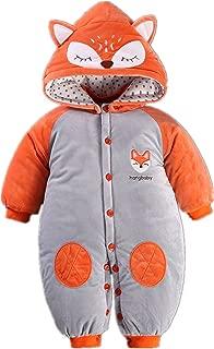 Toddler Baby Boys Girls Cartoon Animal Thick Romper Warm Bodysuit Playsuit for Autumn Winter
