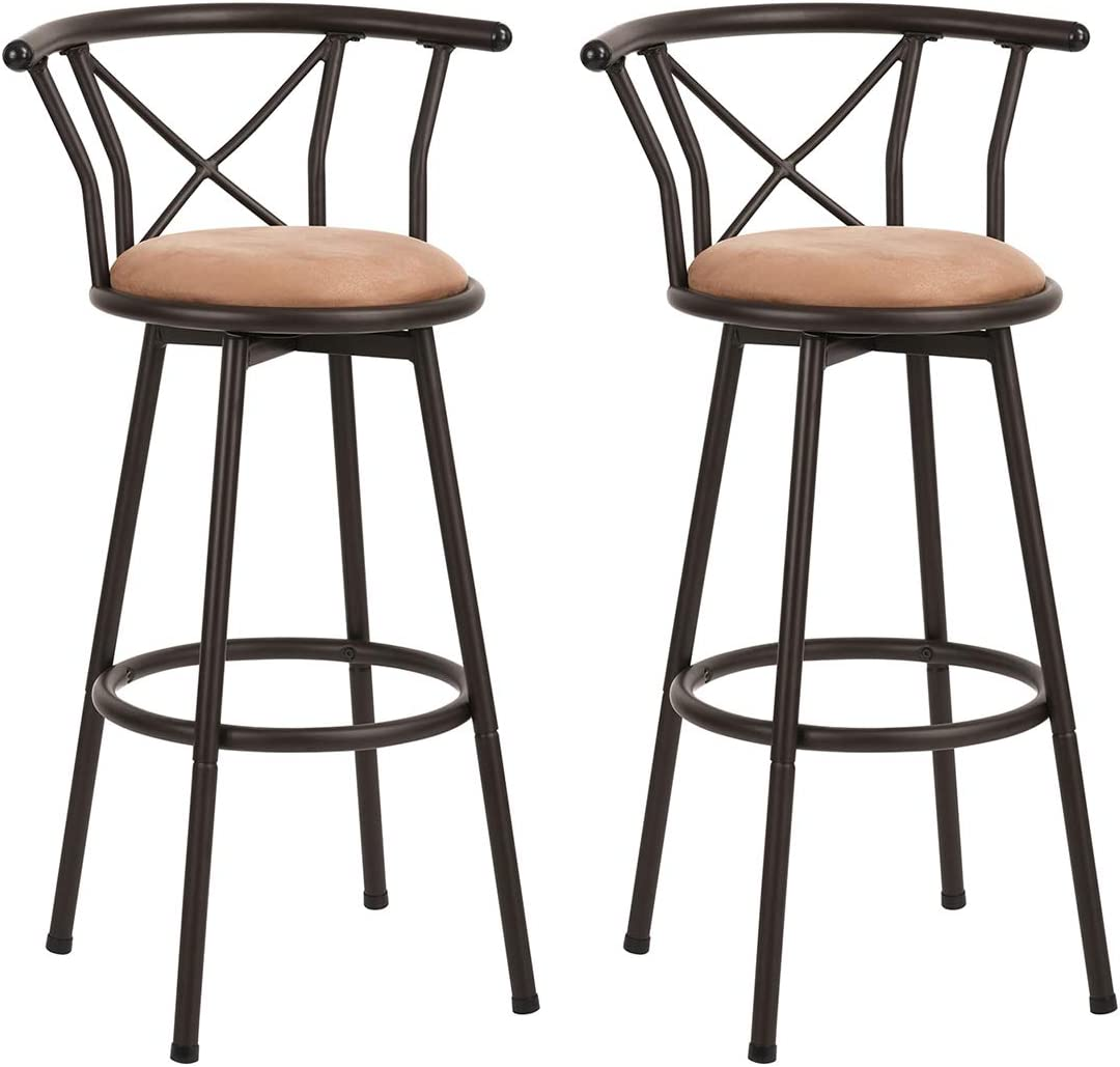 Homy Casa Bar Stools Set of 9 Bar Stools Vintage Style Industrial Bar  Stools with Footrest Design Swivel Plate 99 Inch Foam Padded for Living  Room or ...