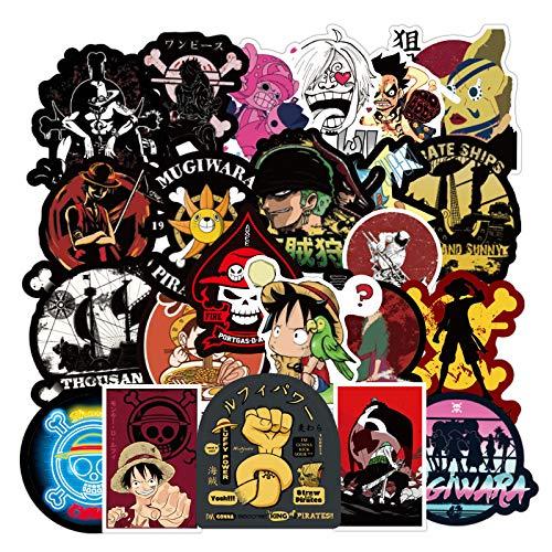 100 unids/Pack Dibujos Animados Anime One Piece Stickers Impermeable monopatín Maleta Motocicleta Graffiti Equipaje Guitarra Pegatina niños Juguete