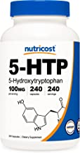 Nutricost 5-HTP 100mg, 240 Capsules (5-Hydroxytryptophan) - Vegetarian Capsules, Gluten Free, Non-GMO