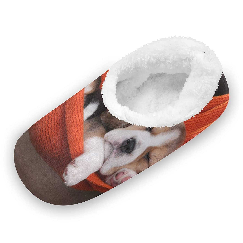Animal Dog Beagle Fashion Puppy Fuzzy Feet for Slippers Cora Women Year-end gift Cute