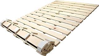 タンスのゲン すのこ ベッド シングル 折りたたみ 国産ひのき使用 ロール式 すのこベッド すのこマット シングルベッド 17610028 00 【52422】