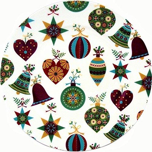 fromeuropewithlove It' s Christmas set di due piatti fine Bone China 20,3cm Christmas piatti decorati a mano nel Regno Unito