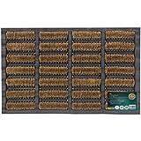 JVL Heavy Duty Nimbus Rubber Natural Coir Tuffscrape Door Mat, Rattan, 40 x 60 cm