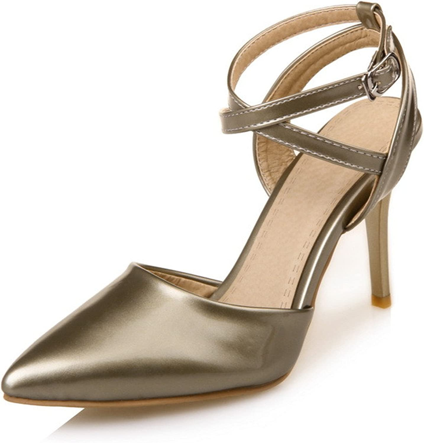 Gome-z gold Silver Pink Black Women shoes High Heel Cross Strap Slingbacks Stiletto Lady High Heels Mary Jane shoes Summer 2018