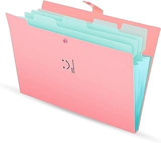GRETAL A4 ورقة الأكورديون منظم ملف ملف وثائق حقيبة ملف موسع 5 جيوب لوازم المكتب المدرسية لون عشوائي