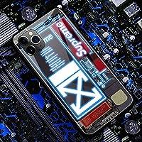 アイフォンケーススマホ IPhone12,12pro,12mini 保護カバー 12 Pro Max耐衝撃強化ガラス LEDフラッシュ通知着信光る薄型スリム,A-iPhone12Pro