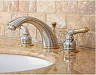 Chrome/Polished Brass Widespread Bathroom Faucet