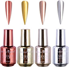 Nail Polish, Long Lasting Gorgeous Glossy Manicure Nail Art Decoration, Brilliant Mirror Effect Nail Lacquers Kit (A)