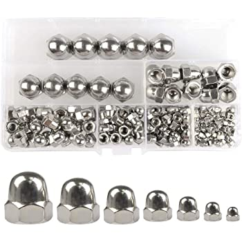 Pack of 50 TOUHIA M4 Acorn Hex Cap Nuts Metric Dome Head Nuts Stainless Steel