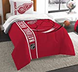 NHL Detroit Red Wings Full Comforter and Sham Set, Full/Queen