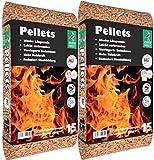 2 sacos de pellets de madera para calefacción, 30 kg, certificado EN A1