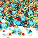 Streusel bunt Zauberei Sprinkles 90g | STREUSEL GLÜCK | bunte Zuckerstreusel perfekt zum Backen als Tortendeko und Plätzchen Deko für WeihnachtenKindergeburtstag Geburtstag Cupcakes Muffins