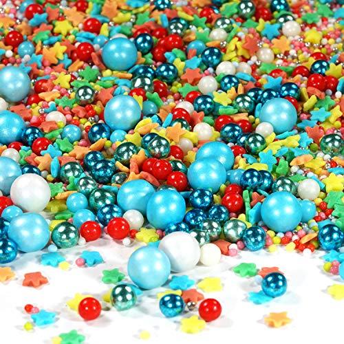 Streusel bunt Zauberei Sprinkles 90g   STREUSEL GLÜCK   bunte Zuckerstreusel perfekt zum Backen als Tortendeko und Plätzchen Deko für WeihnachtenKindergeburtstag Geburtstag Cupcakes Muffins