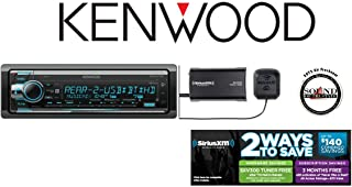 Kenwood KDC-X701 CD Receiver with Built in Bluetooth, HD Radio and SiriusXM Satellite Radio Tuner and Antenna SXV300v1 and a FREE SOTS Air Freshener (Renewed)