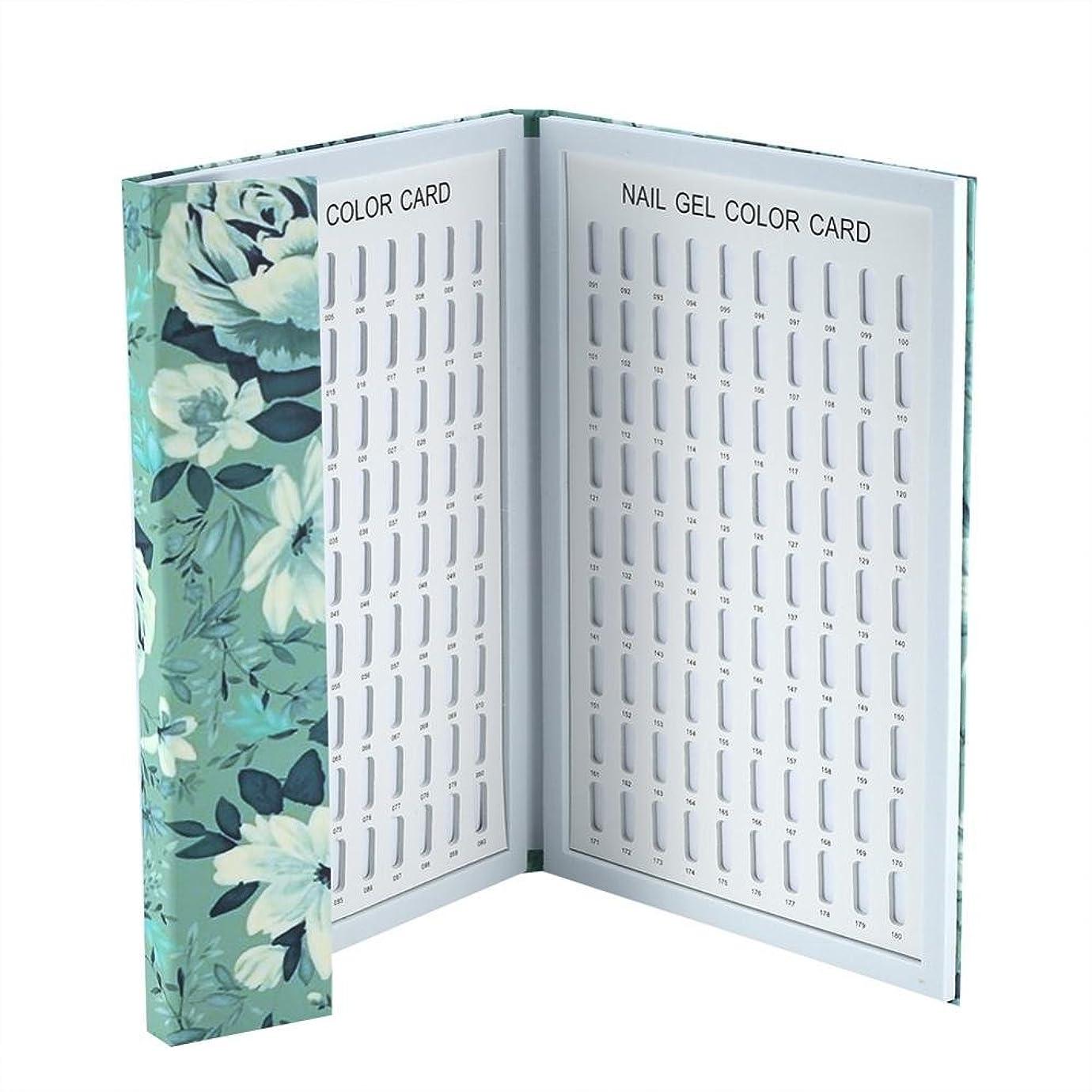次へ祝う対処するカラーチャート ネイル - Delaman ネイル 色見本、ブック型、180色、カラーガイド、ジェルネイル、サンプル帳、ネイルアート、サロン、青/緑 (Color : 緑)
