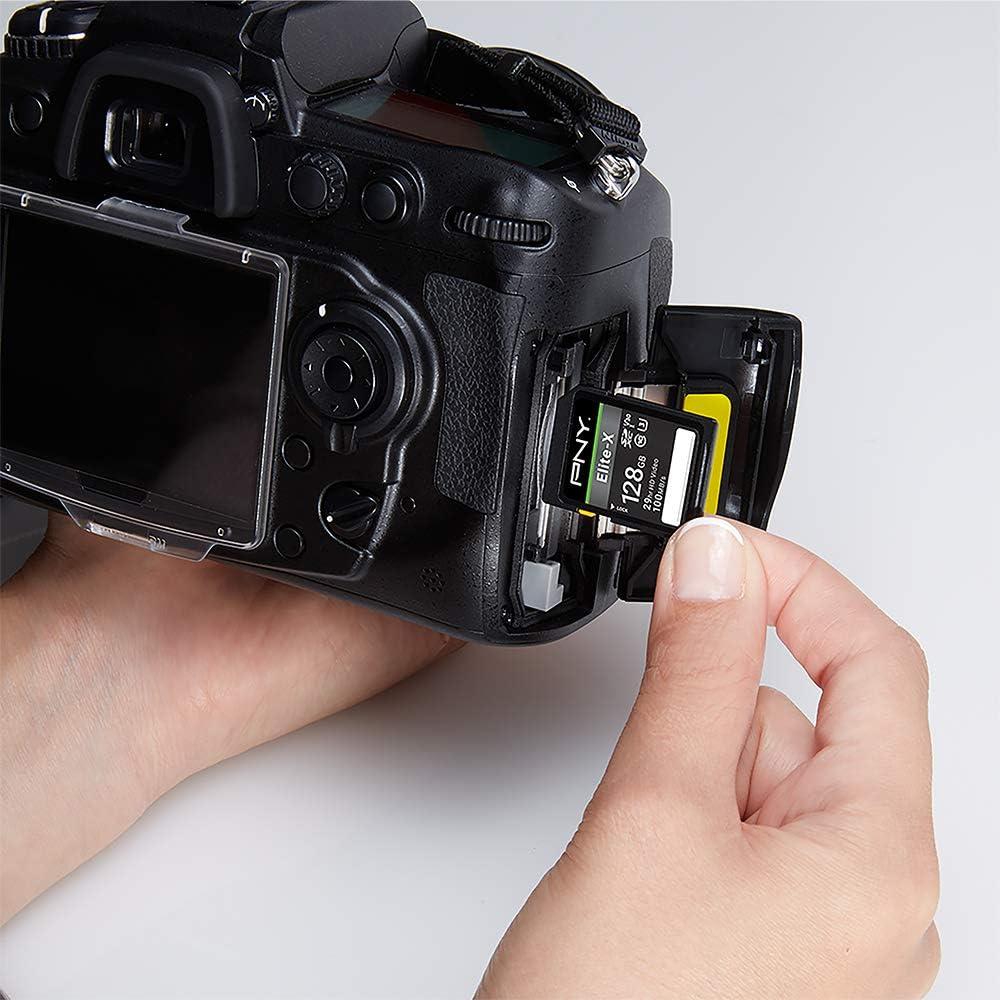 PNY 128GB Elite-X Class 10 U3 V30 SDXC Flash Memory Card