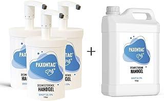 Paxontac Desinfecterende Handgel - 1000 ml 3x met Hervulbare Pomp + 4 liter Navulling - Grootverpakking - Droogt snel en p...
