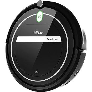 Aiibot Aspirador Robot con Sistema de Limpieza de 3- Etapas, Sensor Inteligente de Detención de Caídas, Filtro HEPA, para Partículas Pequeñas/Piso Duro/Alfombra de Pila Baja (T289-black-1): Amazon.es: Hogar