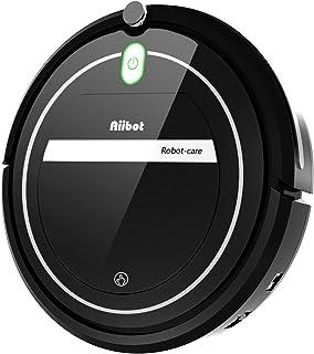 Aiibot Aspirador Robot con Sistema de Limpieza de 3- Etapas, Sensor Inteligente de Detenci?n de Ca?das, Filtro HEPA, para Part?culas Peque?as/Piso Duro/Alfombra de Pila Baja (T289-black-1)