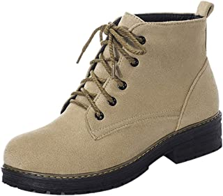 KemeKiss Women Causal Autumn Short Boots Comfortable Flat Boots