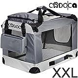 Deuba CADOCA - Cage de Transport pour Animaux domestiques • Gris/Noir • Pliable • Taille XXL -...