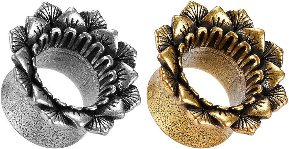 Elegant Ranking TOP11 COOEAR Piercing Stretchers Punk Flower Plu Ears Style for Gauges