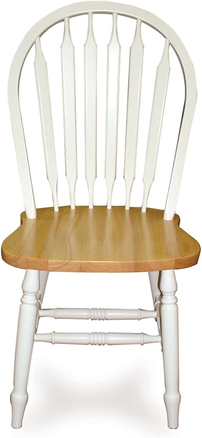 International Concepts C02-213 Windsor 38  High Arrowback Chair White Natural