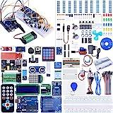 🌟Lo starter kit più completo, più grande e con le prestazioni più elevate con 66 tipi di prodotti di programmazione, più di 200 componenti. Sono inclusi anche la scheda di sviluppo Kuman R3 e il cavo USB, 100% compatibile con ArduinoIDE R3, MEGA, NAN...
