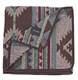 RUTH&BOAZ Outdoor Wool Blend Blanket Ethnic Inka Pattern(L) (Green, Large)