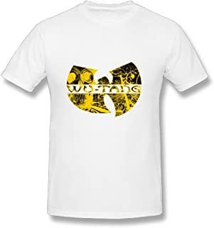 Mens Wu Tang Clan Distressed Logo Casual Novelty O Neck Tshirts