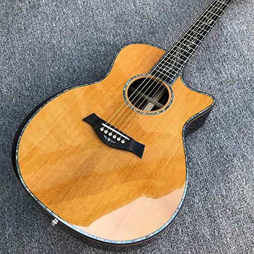 Gitarre 41 Zoll Akustikgitarre Rückseite Und Zargen Real Ebony Griffbrett Akustikgitarre