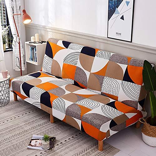 Mingfuxin - Copridivano senza braccioli antiscivolo, pieghevole, in elastan, elasticizzato, adatto per divano letto pieghevole da 2-3 posti, senza braccioli