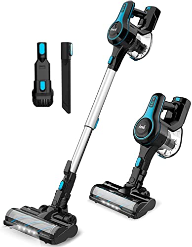 new arrival INSE Cordless Vacuum Cleaner Lightweight Powerful Suction Stick Vacuum 1.2 L Large Dus-t Cup Handheld Vac for Clea-ning Home Car Pet Hair sale Carpet online sale Hard Floor Furniture - N5 Blue outlet sale