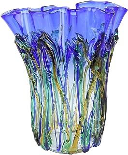 GlassOfVenice Murano Glass Oceanos Abstract Art Vase