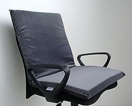 Assento Com Encosto Para Cadeira Viscoelástico Nasa Gel Infusion (cinza)
