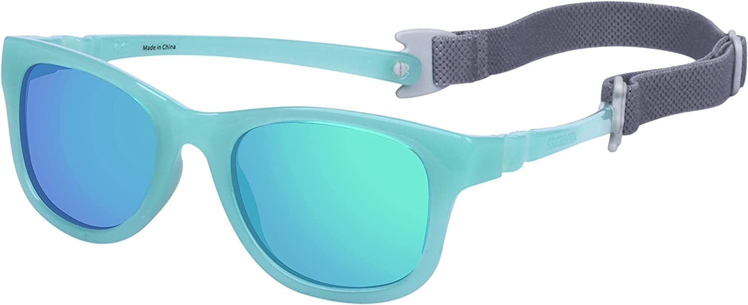 COCOSAND Baby Sunglasses 100% Kansas City Mall UV Stra Protection with lowest price Adjustable