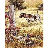 Diy 5d diamante pintura animal perro y pájaro taladro completo bordado punto de cruz mosaico diamantes de imitación decoración pintura