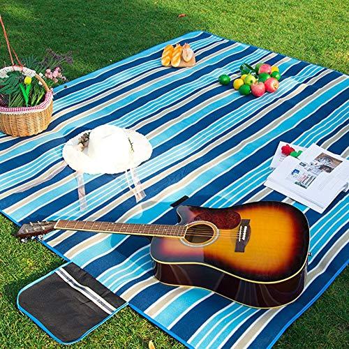 Camping Couverture Pique-Nique Imperméable À l'eau, Une Couverture De Pique-Nique Voyage De Camping Pique-Nique avec Une Couverture Étanche À L'humidité Résistant À L'humidité Pad Poignée Bleu Foncé