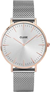 2e2e2f28b Cluse Reloj Analógico de Cuarzo para Mujer con Correa de Acero Inoxidable –  CL18116