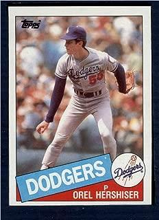 orel hershiser baseball card