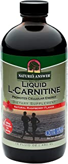 Nature's Answer Liquid L-Carnitine Raspberry flavor 1200 mg 16-Fluid Ounces Cellular Energy Dietary Supplement