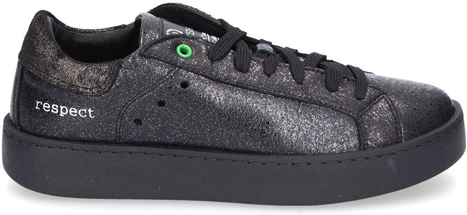 WOMSH Women's C270901 Black Leather Sneakers