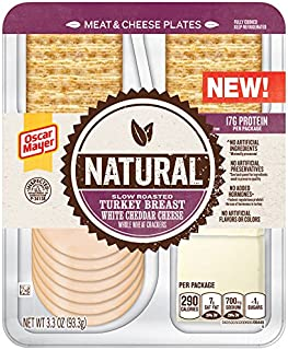 Oscar Mayer Natural Slow Roasted Turkey & Cheddar Meat & Cheese Plate (3.3 oz Tray)