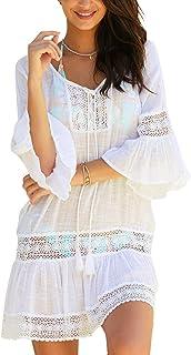 992322c180ca Amazon.es: vestidos blanco playa - Mujer: Ropa